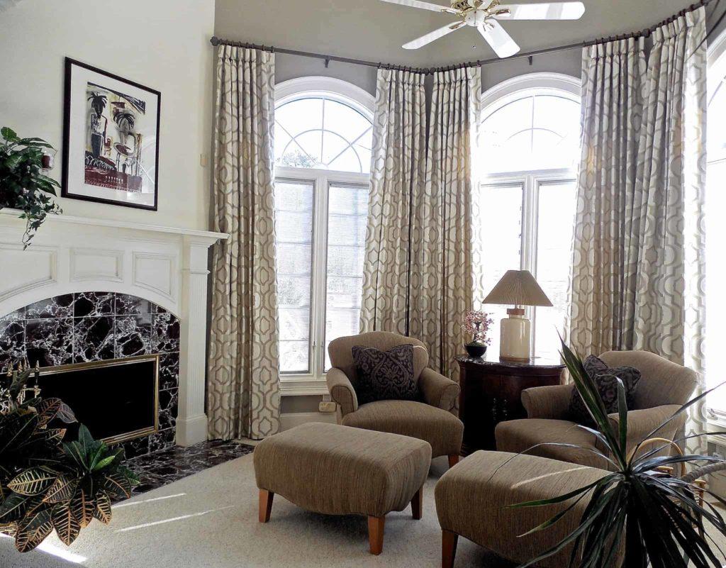Elegant Master Bedroom Seating Area