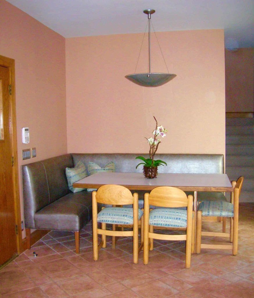 Custom Banquette Kitchen Eating Area